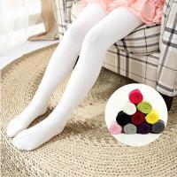 春秋款加厚儿童连裤袜宝宝白色舞蹈袜女童打底裤袜针织全棉袜子