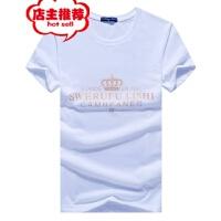 男士短袖t恤新款圆领宽松上衣夏季韩版潮流纯棉大码夏装体恤男装