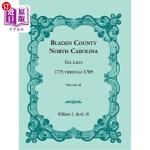 【中商海外直订】Bladen County, North Carolina, Tax Lists: 1775 Thro