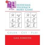 【中商海外直订】Rhodesian Ridgeback Memory Game: Color - Cut - Play