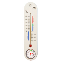 得力文具办公 室内外 温度计 湿度计 9013温湿度两用