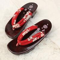 20180823051601807橡胶高跟日本日式cosplay木拖鞋木屐鞋人字拖半月女款F