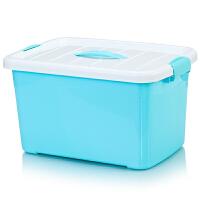 塑料收纳盒加厚玩具整理收纳箱有盖大中小号手提零食储物箱盒
