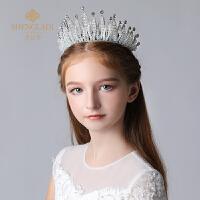 儿童头饰皇冠公主水晶大王冠发箍模特走秀演出饰品女孩