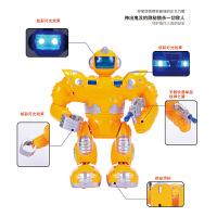 电动机器人机甲金刚发光音乐步行儿童玩具机器人
