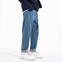 2.5折价:105;Lilbetter牛仔裤男潮牌裤子宽松潮流男裤港风坠感阔腿裤直筒长裤