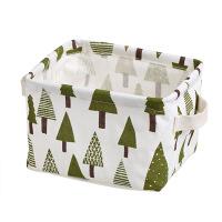 桌面收纳筐棉麻布艺浴室长方形置物篮收纳篮手提篮子零食筐置物框