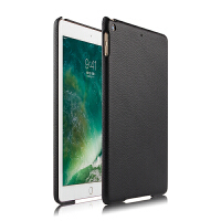 2017款iPad 9 7保护壳A1822外壳苹果9.7寸平板电脑壳全包边硬壳套 黑色【iPad 9.7背贴真皮】