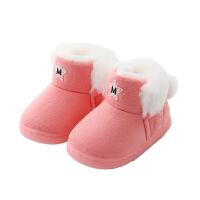 儿童棉鞋毛毛鞋加绒冬季2018新款男孩女孩家居鞋
