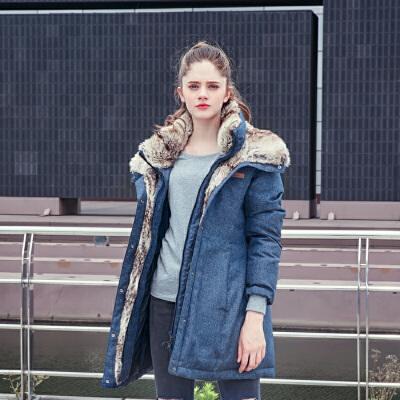 TOREAD 探路者 TADF92869 女款保暖长羽绒服