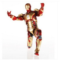 钢铁侠 IRONMAN MK42 7寸 全可动换手钢铁侠MK42手办钢铁侠MK6发光摆件手办模型复仇者联盟玩具MK43