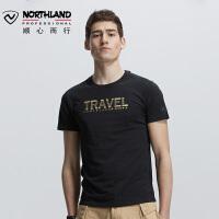 【诺诗兰开学季低至2折】诺诗兰新款男士户外时尚透气休闲短袖T恤GL085B27