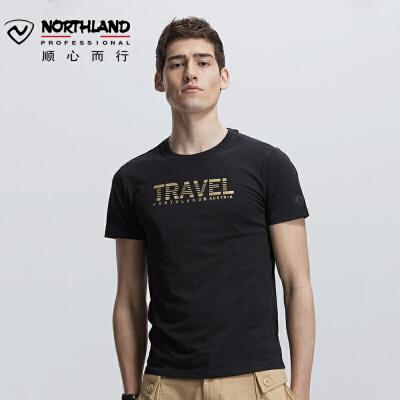 【顺心而行】诺诗兰新款男士户外时尚透气休闲短袖T恤GL085B27 全场顺丰包邮