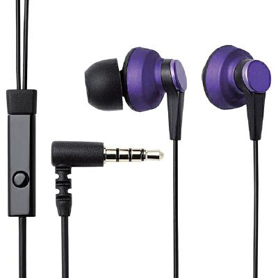 Elecom 宜丽客 IPIN300 入耳式耳机手机线控立体声音乐耳机 带麦可通话经典款 降噪带麦线控通话耳机