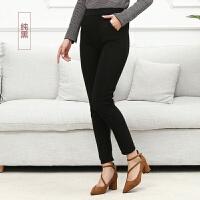 【不加绒/加绒】中老年女士外穿大码高腰弹力修身显瘦打底裤 5XL (155-200斤)