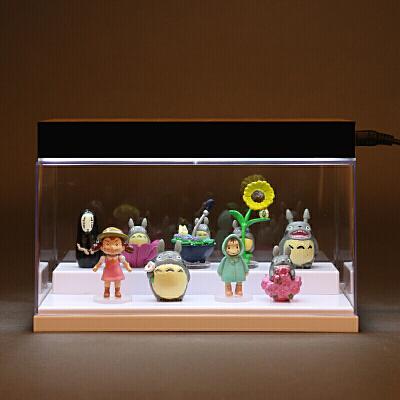 教师节礼物生日礼物动漫全套宫崎骏龙猫公仔模型无脸男玩偶摆件 +灯 普通包装