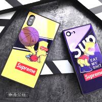 恶搞卡通潮男iphonex手机壳6s男7个性创意8plus蓝光钢化玻璃壳6sp 苹果x 扣篮森