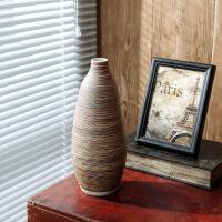 仿古陶瓷花瓶陶罐家用客厅酒柜电视柜家居装饰品三件套花瓶
