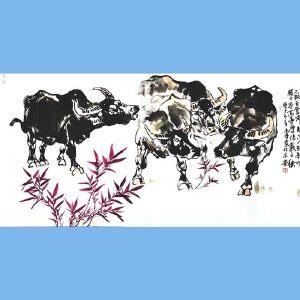 笔名金石,中国书画艺术研究院院长,国家一级美术师,中央国家机关美术家协会理事石金(不鞭自奋蹄)