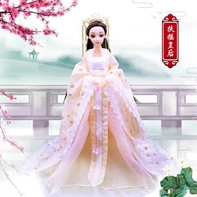 古风芭比娃娃 中国古装娃娃衣服民族古代仙女公主精美古风服饰女孩换装玩具