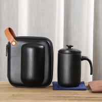 旅行泡茶器茶具日式简约便携户外旅游快客杯一壶二三杯陶瓷马克杯