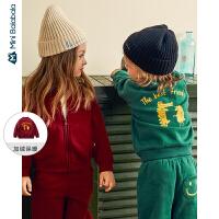 迷你巴拉巴拉儿童外套男童便服2019年冬装新女宝宝韩版立领棒球服