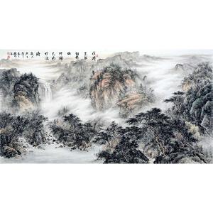 中国美协会员,中国书协会员,龙云书画院院长侯桂峰(山水古诗)4