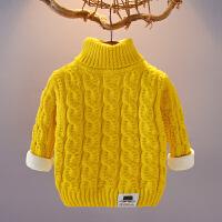 儿童毛衣秋冬加绒加厚男女宝宝套头衫123456婴儿外套针织上衣童装