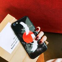 �O果x�化玻璃手�C�づ�款iphone8plus/7/6s�R面后��7p全包防摔潮