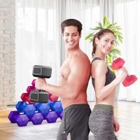六角哑铃男士练臂肌家用健身器材2.5kg10公斤女士体操包胶哑铃