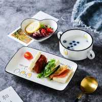 创意早餐餐具一人食套装网红日式ins风碗碟盘子家用儿童单人北欧