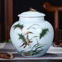 大展景德镇茶叶罐陶瓷大号半斤茶罐密封罐家用1斤装茶叶储存罐