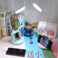 多功能LED台灯护眼书桌小学生宿舍可充电式学习两用儿童卧室床头