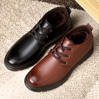 宜驰 EGCHI 靴子男士保暖加绒雪地靴棉靴子商务休闲耐磨高帮棉鞋子 K1935