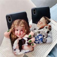 创意复古油画8plus苹果x手机壳iphone7情侣xs max/xr/6可爱软壳潮iPhone11 Pro Max新款