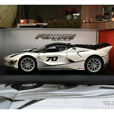 汽车模型1:18法拉利FXX K EVO合金全开摆件跑车模型定制 法拉利FXXK EVO金属白现货