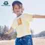 【2件4折】迷你巴拉巴拉男童短袖T恤2020夏新款手绘T恤时尚复古凉爽夏装T恤