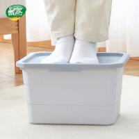 【每满100减50】傲家 塑料收纳箱玩具整理箱家用有盖书本零食衣柜收纳盒加厚床底储物箱