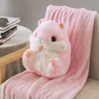 冬季暖手抱枕可爱捂手毛绒玩具 仓鼠暖手抱枕插手毛绒冬季小老鼠公仔手捂带毯子可爱女充电暖手宝