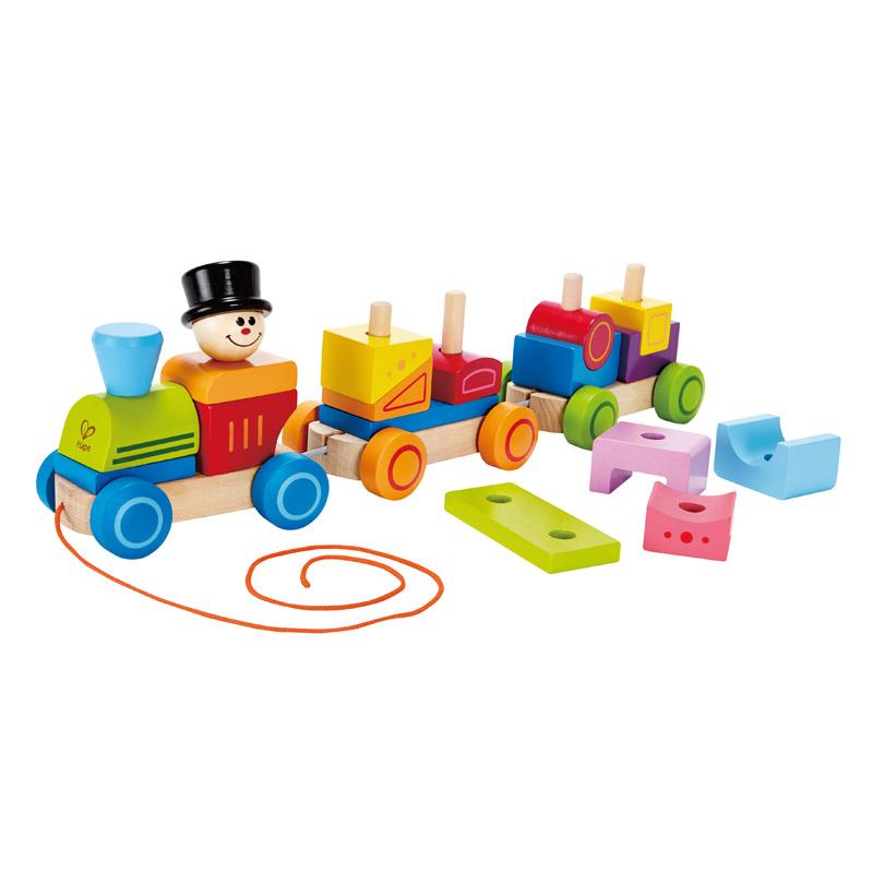 [当当自营]德国Hape 几何积木小火车 益智玩具 启蒙早教 木制拆装组装玩具  E8037【当当自营】适合1岁以上大号串珠绕珠 镜面游戏