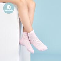 【用券满129立减30】5双装都市丽人都市贝比cosmobaby时尚女童组合短袜女童舒适袜子