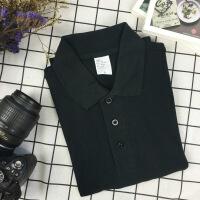 日系棉色短袖polo衫男女夏t恤大码衫团队定制 3X