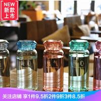 钻石耐热玻璃杯子女学生韩版简约水瓶情侣水杯一对便携韩国随手杯