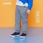 【3件3折:89.7】安奈儿童装男童保暖运动棉裤2019冬装新款TB946354