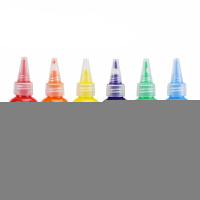 儿童画画染料 儿童颜料可水洗安全涂鸦宝宝画画手指画套装水彩洗手工画染料 6色送调色盘+2只画笔 可备注自选颜色