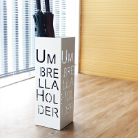 创意家居雨伞架酒店雨伞桶大容量白色方形伞架收纳架金属烤漆 MT-17字母 白