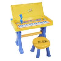 儿童电子琴带麦克风女孩早教玩具书桌琴宝宝生日礼物小钢琴