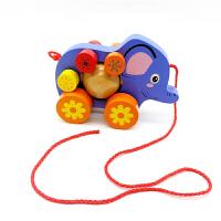 可以拉着走的玩具 拖拉学步玩具拉车婴儿幼儿拖拉车儿童手拉绳拉线玩具车拉绳玩具车