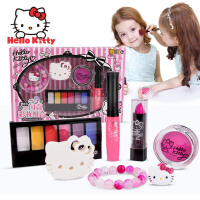 HELLO KITTY 凯蒂猫 壹百分闪亮彩妆组合 美妆玩具 KT-8582 彩妆套装儿童化妆品过家家玩具 当当自营