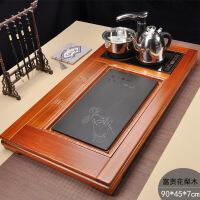 茶具套装家用实木茶盘花梨茶海茶台电磁炉全自动上水整套茶道 37件